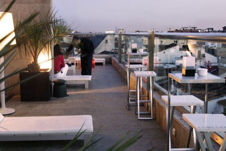 Terraza del hotel urban cortes terrazas madrid y otro for Terrazas urban mall chacras de coria