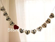 Free Shipping Just Married Wedding Vintage Bunting Banner Party Decorations Prop DIY Handmade(China (Mainland))