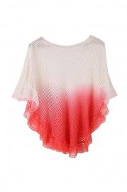 Hollowed Main Gradient Red Top    $38.99    romwe.com