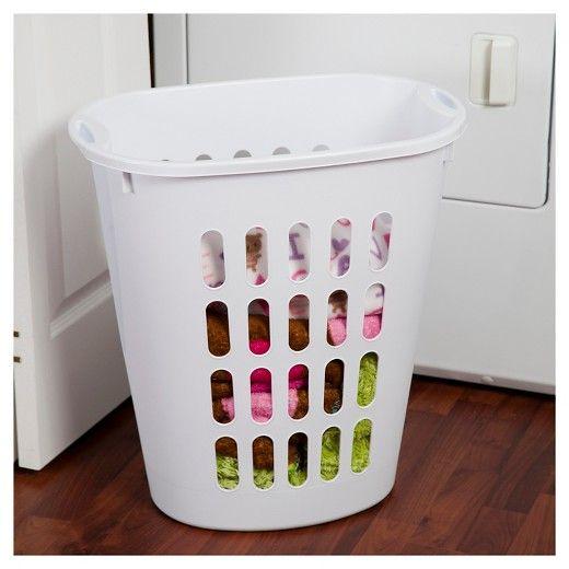Tall Plastic Laundry Basket Sterilite® Oval Laundry Hamper  White  Laundry Hamper Hamper And