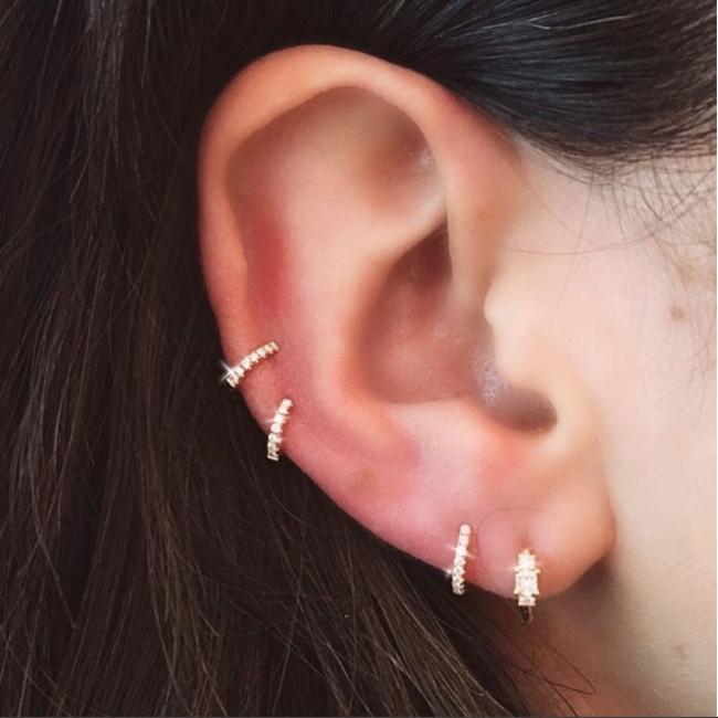 Pin by Katie E on Piercings | Pinterest | Maria tash, Gold hoops ...