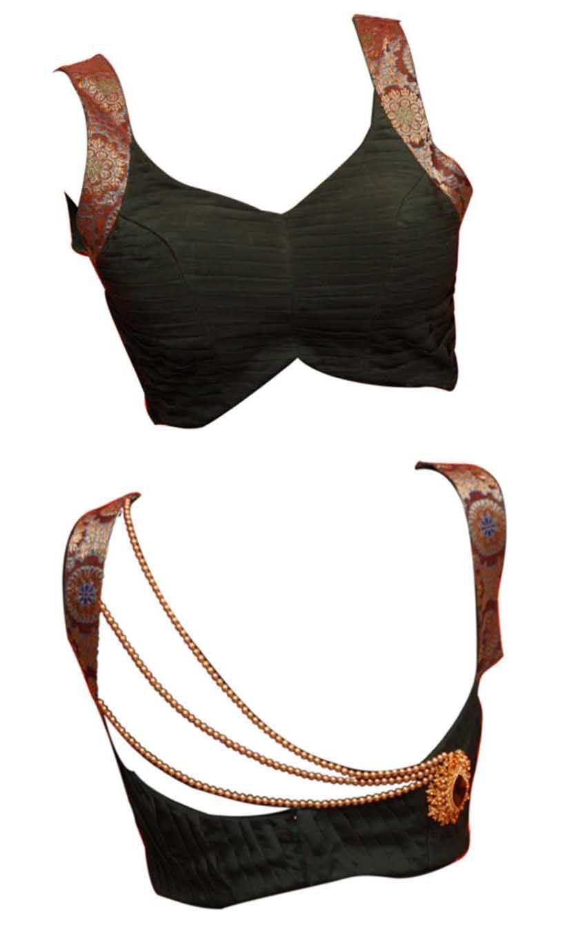 Saree blouse design cutting and stitching princess cut designer saree blouse front and back neck designs