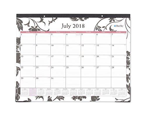 blue sky 2018 2019 academic year monthly desk pad calendar ruled blocks 22 x 17 barcelona