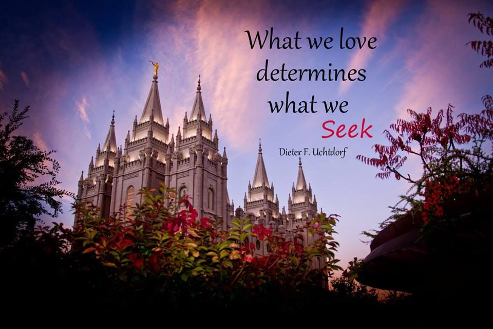 """""""What we love determines what we see."""" -Dieter F. Uchtdorf #LDS #Mormon (Photo by Glenn Pearson)"""