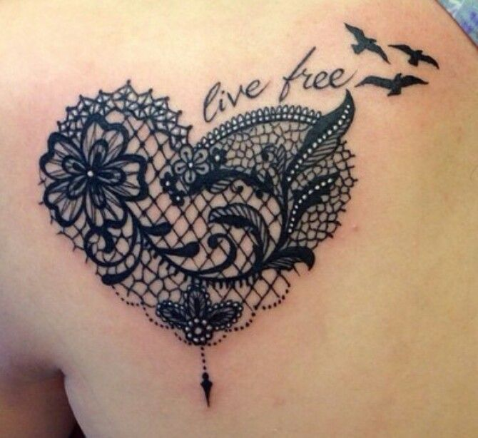 Download Free Lace Heart Tattoos For Women Cool Tattoo