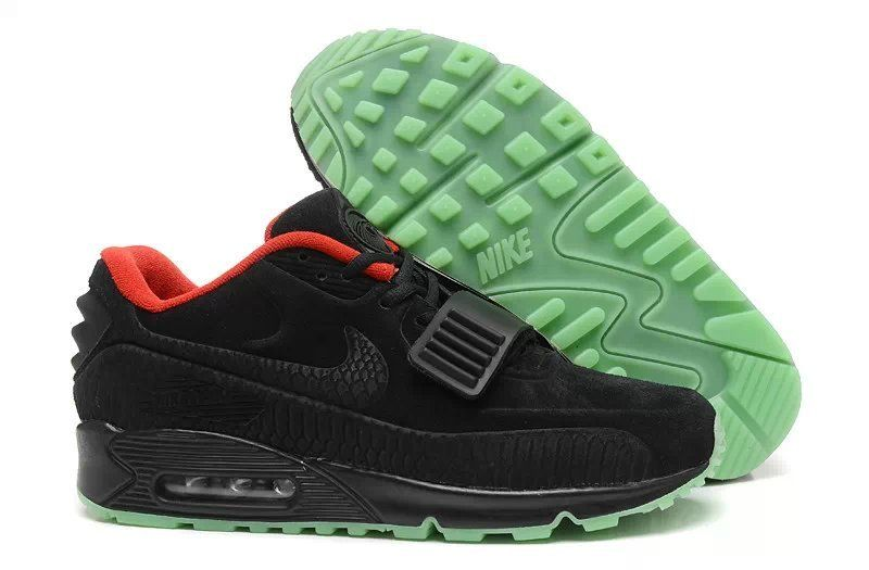 Nike Air Max 90 Black 2014 Yeezy Ii 2 Sp the Devil Series West Shoes.  Available in size Please specify size at checkout.