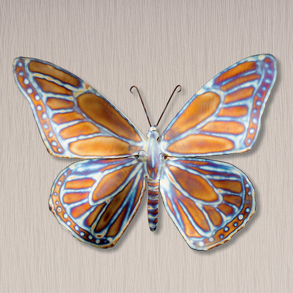 Monarch butterfly metal sculpture wall artgorgeous metal sculpture wall art featuring an exquisitely detailed monarch butterfly handcrafted in new zealand