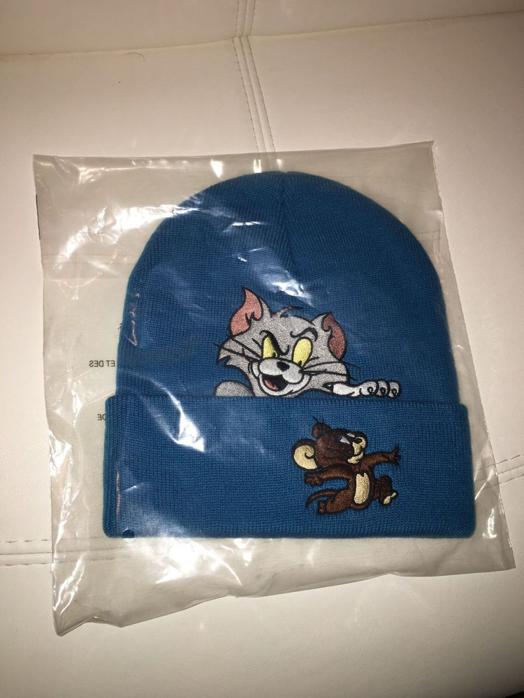 2016 F W Supreme Tom and Jerry Beanie TEAL BLUE RARE One Size Brooklyn Box 9775246dac3
