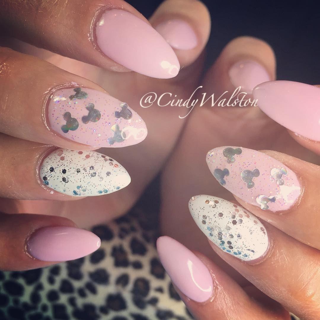 Mini Mouse Pink Acrylic Nails Disney Acrylic Nails Mickey Nails Disney Nails