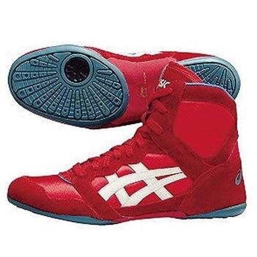 red asics wrestling shoes