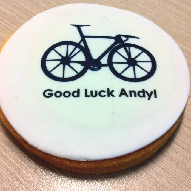 Cute bicycle cookies I had created for a friend who is a passionate cyclist