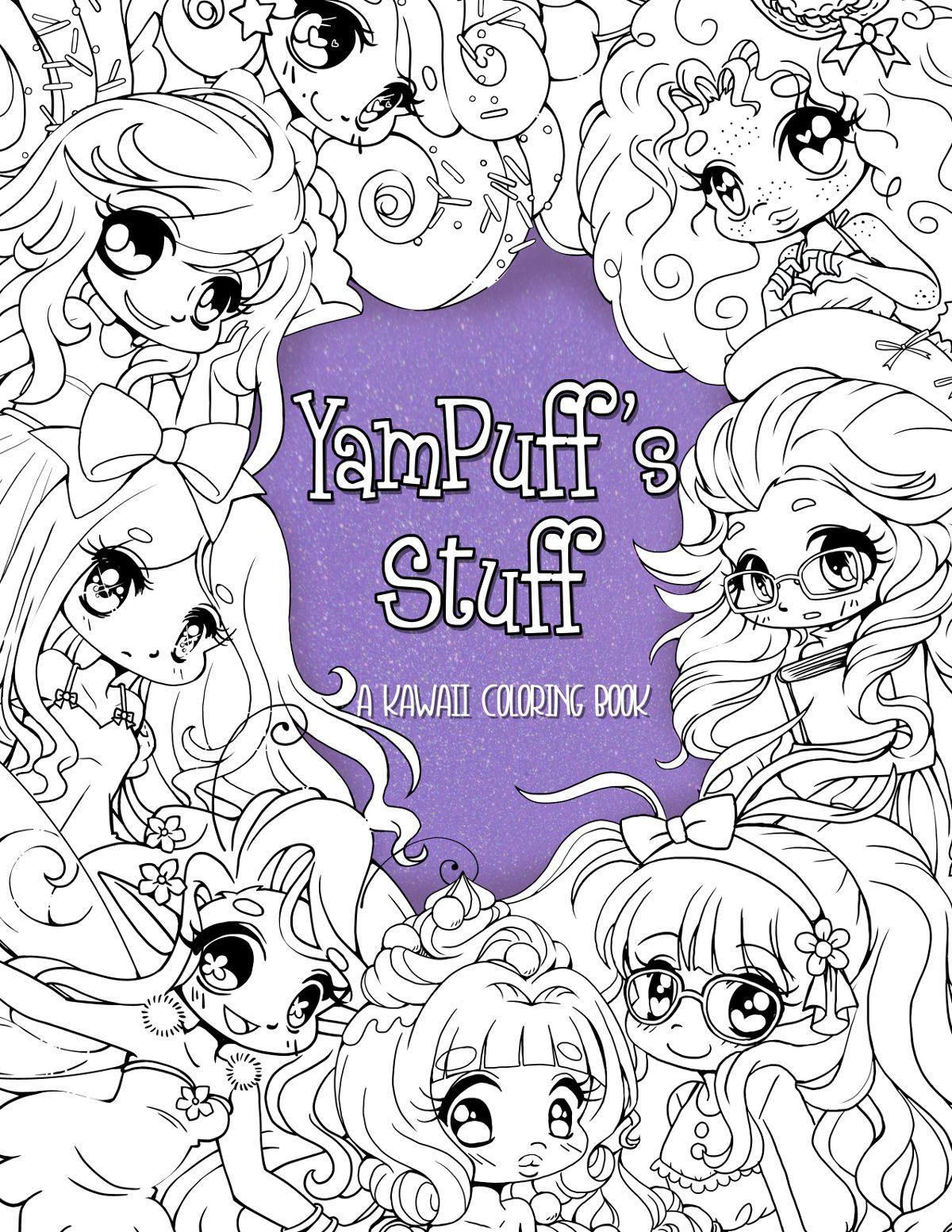 NEW YamPuff\'s Stuff - A Digital Kawaii Coloring eBook of Chibis and ...