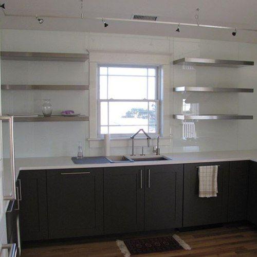 Floating Shelves Seamless Stainless Steel Kitchen Shelves