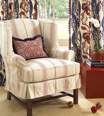 Lovely Furniture Reupholstery, Custom Slipcovers Image: Calico Corners.  #custom_decorating