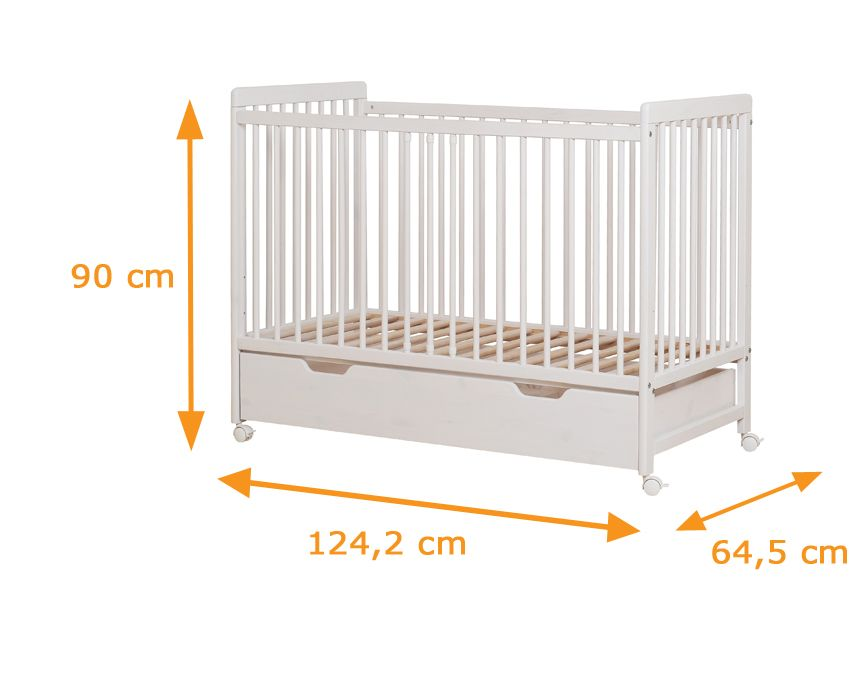 promo code 4907d 64911 Lambs Baby Cot With Wheels & Bottom Drawer | Babies in 2019 ...