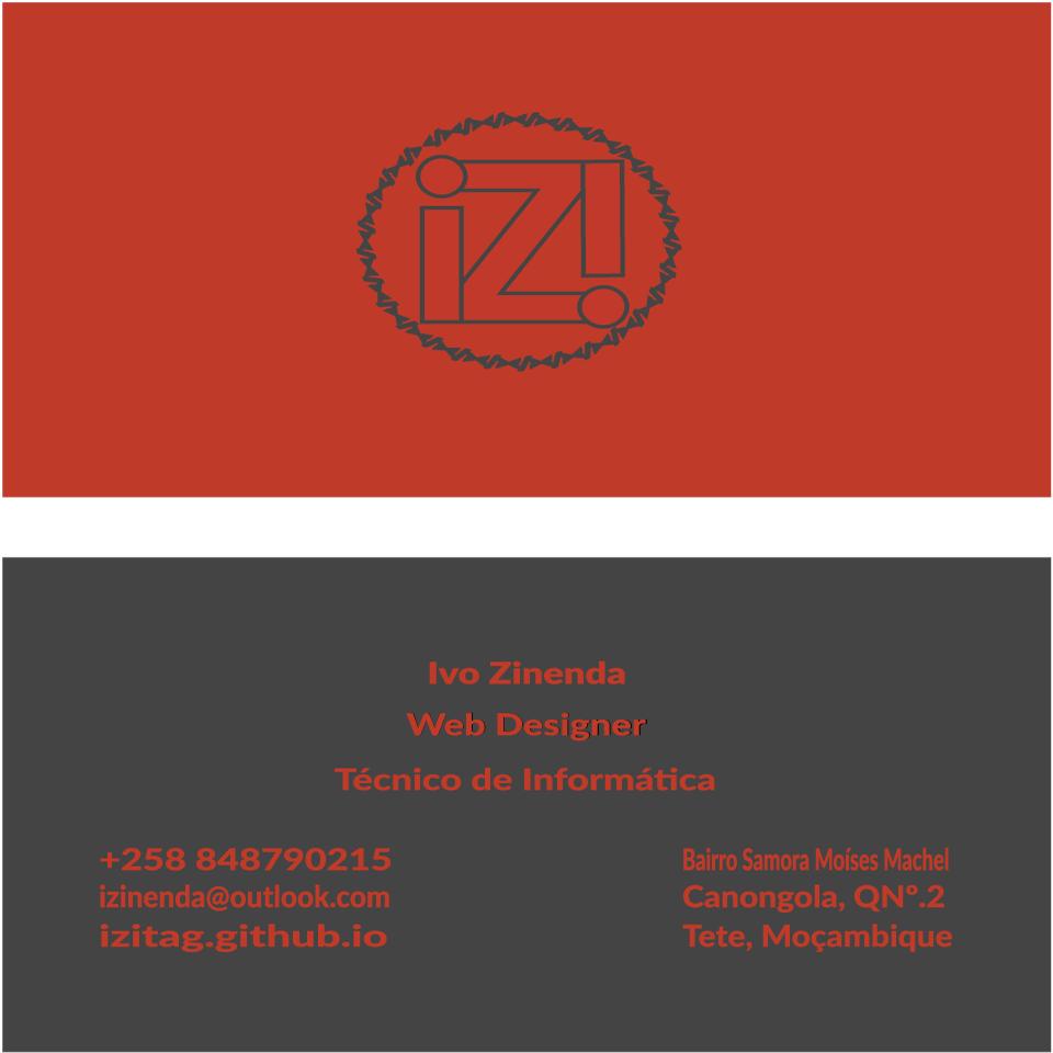 Cartão de visita do IZItag