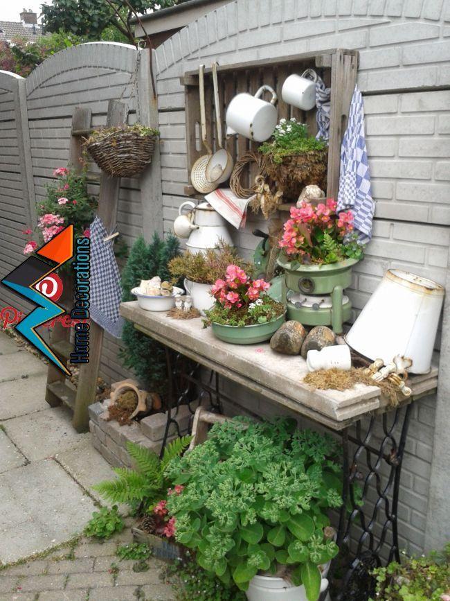 Vintage Gartendekoration Garten Deko Gartengestaltung Ideen