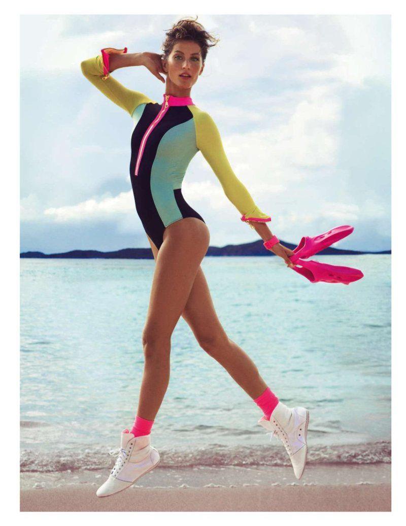 Gisele Bundchen Wows in Vogue Paris June July Issue by Inez & Vinoodh. Beautifully fluorescent.