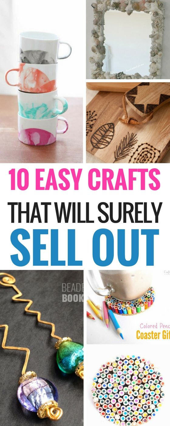 10 Easy DIY Crafts That Will Totally Sell #craftstomakeandsell