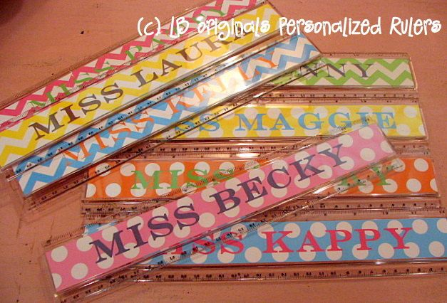 Personalized Rulers by preppypapergirl on Etsy, $9.50