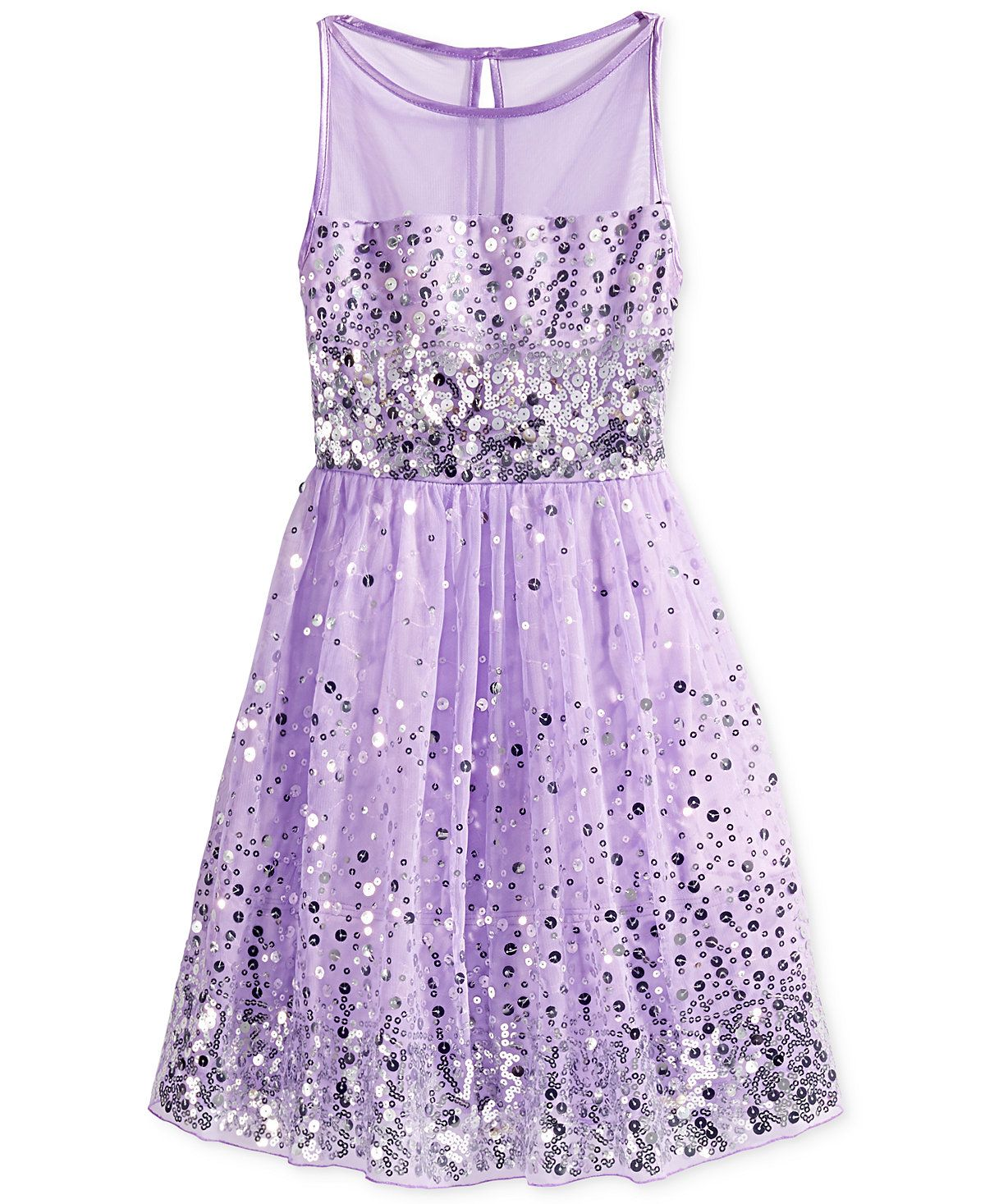 crystal doll sequin illusion dress big girls illusion dress