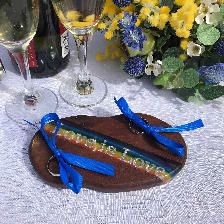 Pin On Wedding Ring Bearer Holders Wood Slices