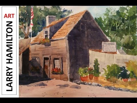 """Paint Along with Larry Hamilton-Watercolor-""""Mexican Street Scene"""" - Oct. 15, 2016 - YouTube"""