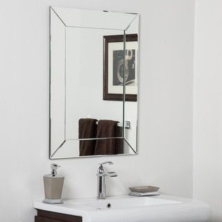 Shop For Avie Modern Clear Glass Frameless Bathroom Mirrorget Alluring Bathroom Wall Mirrors Decorating Inspiration