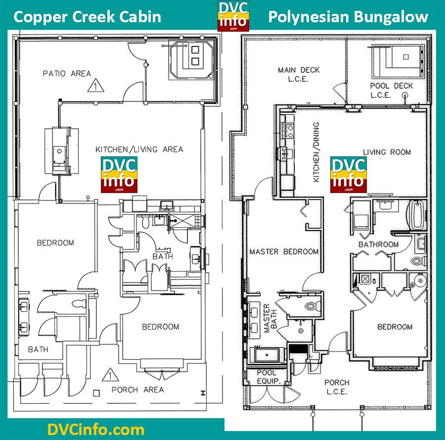Copper creek cabin vs polynesian bungalow disney for Copper creek homes floor plans