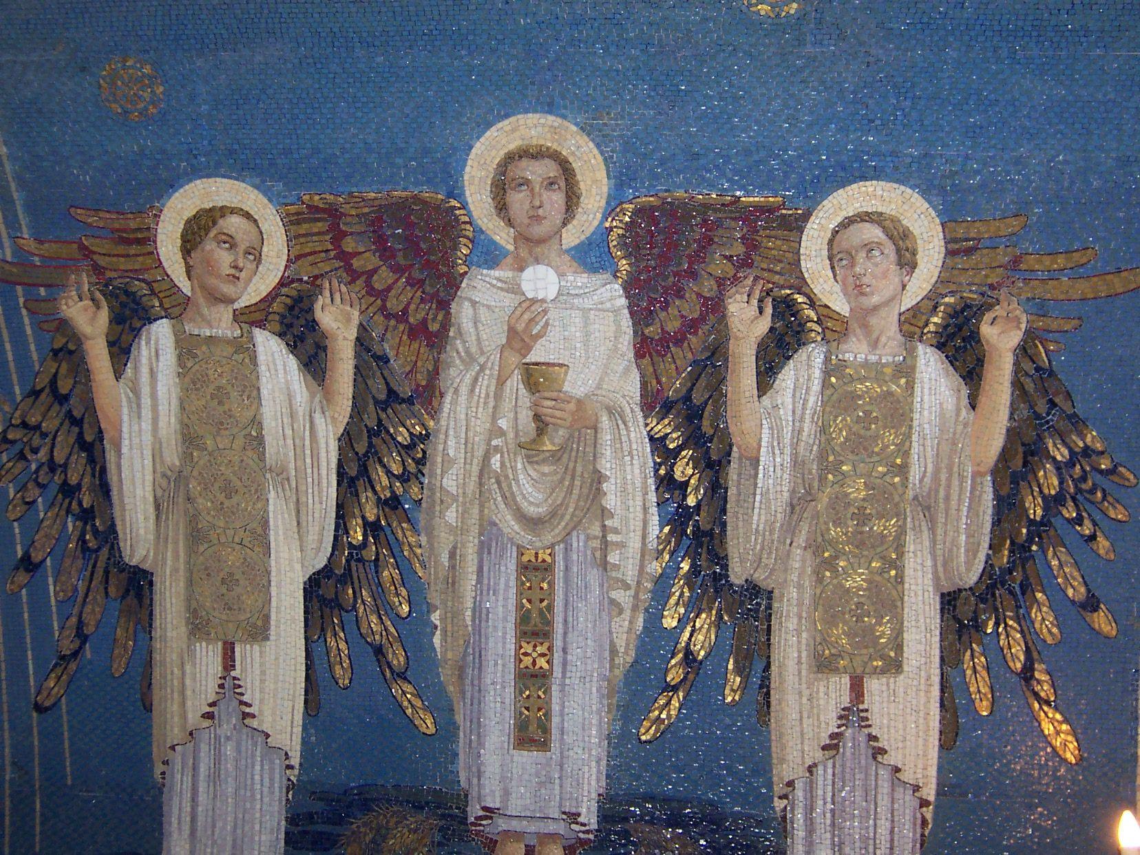 Mosaic at Church of Transfiguration, Mt. Tabor, Israel