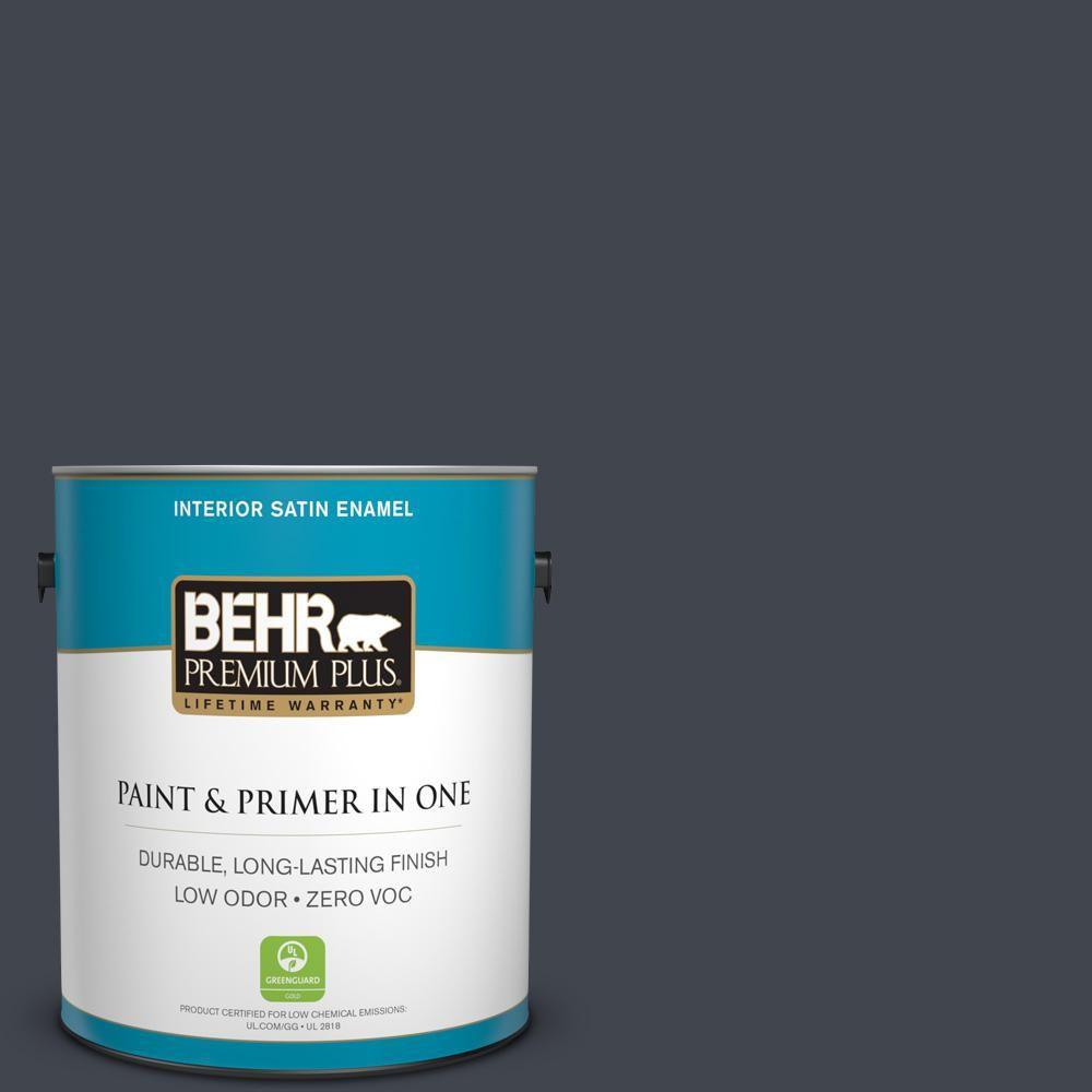BEHR Premium Plus 1 gal. #PPU25-23 Winter Way Zero VOC Satin Enamel Interior Paint