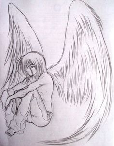Image Result For Pencil Drawings Of Angels And Demons Angel Drawing Pencil Drawings Angel Sketch