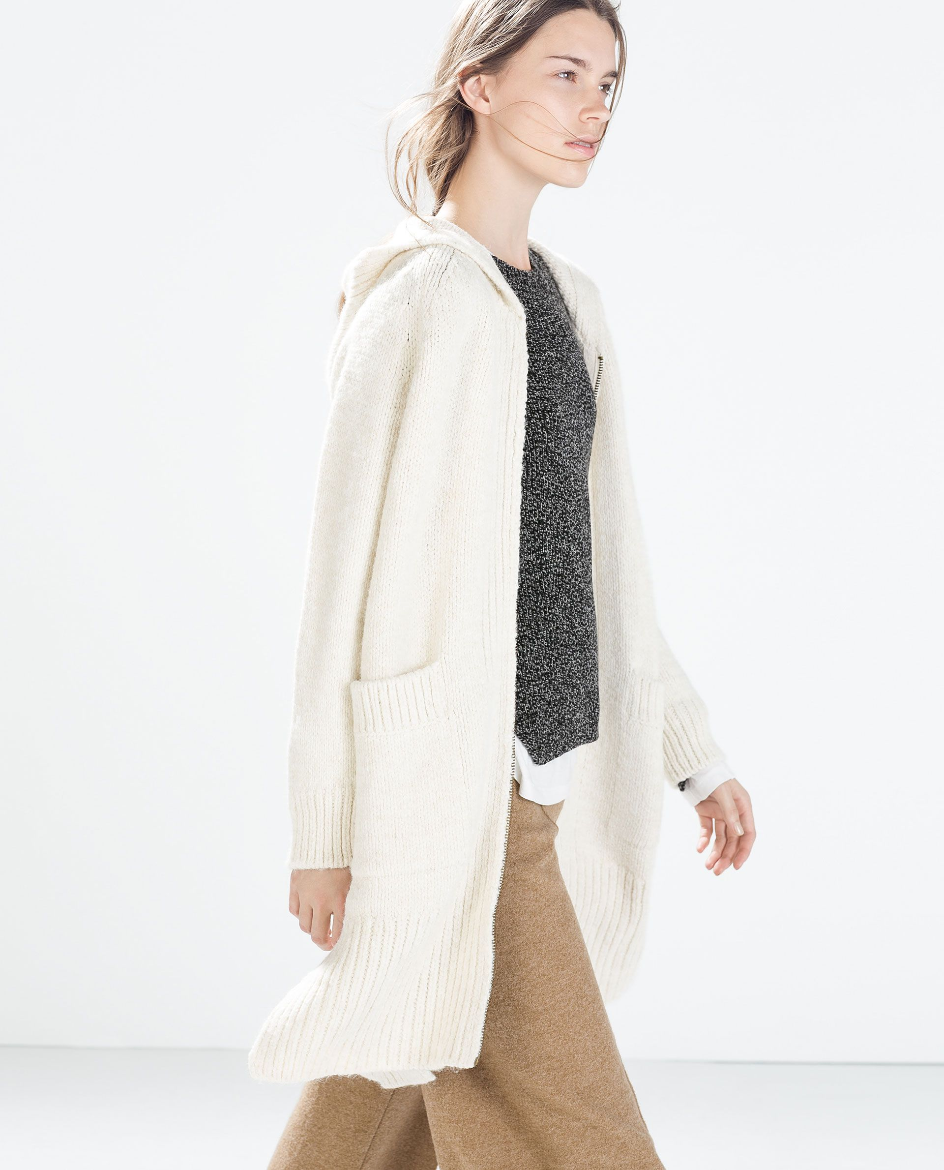 Image 4 of LONG SOFT CARDIGAN from Zara