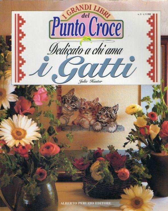 Gallery.ru / Фото #1 - I Grandi Libri del Punto Croce: Dedicato a chi ama i Gatti - ravi