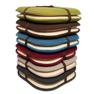 Chairs Cushion Pads Skyline Furniture Accent 16x16 Memory Foam Chair Pad Seat With Non Slip Backing 2 Or 4 Pack