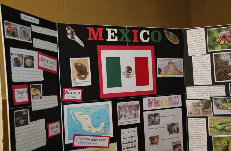 mexico booth tri fold display world thinking day - Tri Fold Display Board Design Ideas