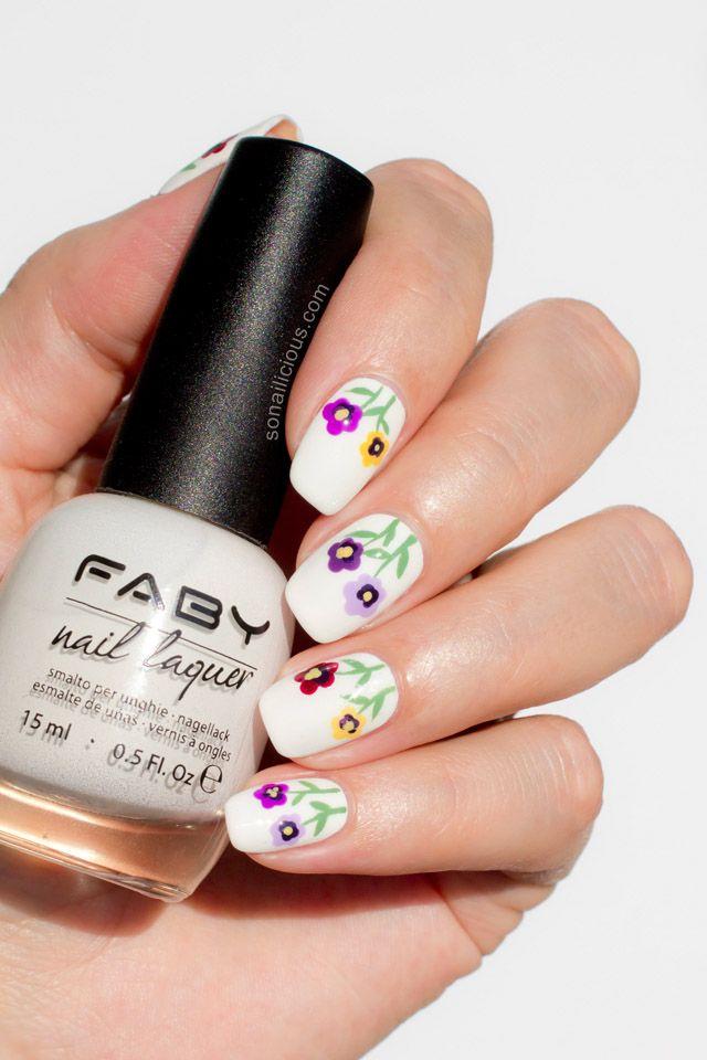 Siberian Pansy Flower Nail Art Tutorial Flower Nails Nail Art Tutorial Nails