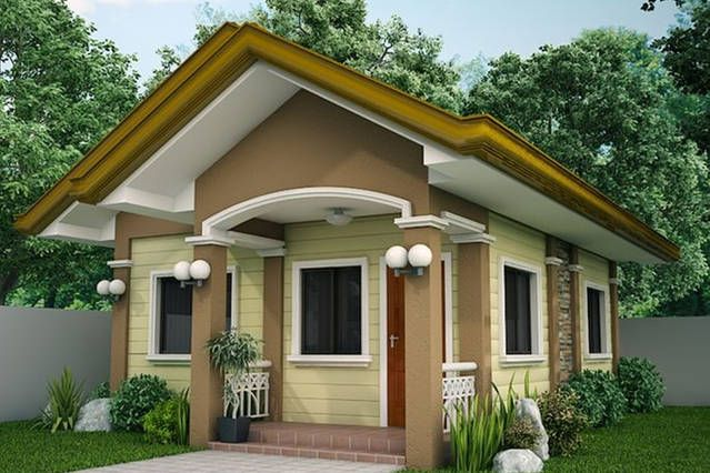Single Story Small House Plan Floor Area 48 Square Meters Simple House Design House Design Pictures Small House Design