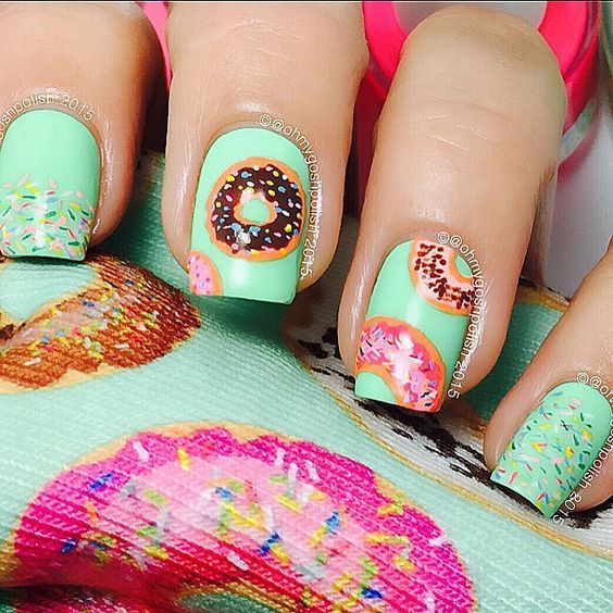 How sweet are these # doughnut # nails ? Photo || Pinterest ...