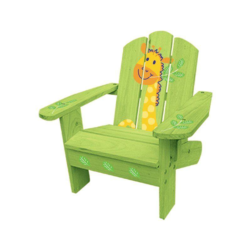Kids Adirondack Chair - Green Giraffe | Adirondak academy | Pinterest