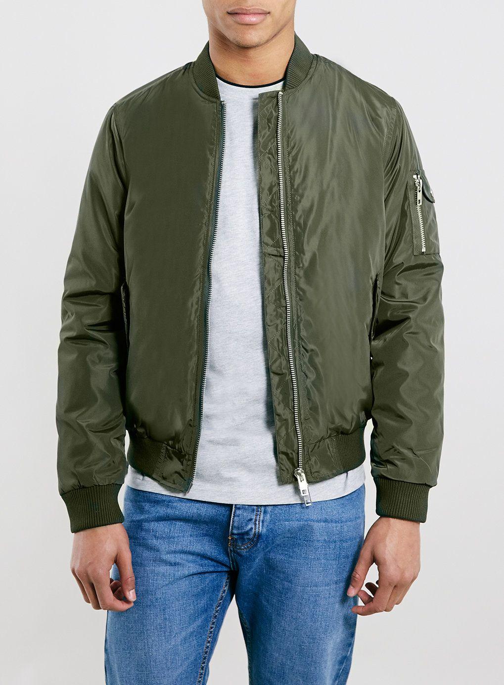 Khaki heavyweight bomber jacket | Products, Bomber jackets and Khakis