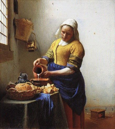 The Kitchen Maid Vermeer Vermeer Paintings Baroque Art