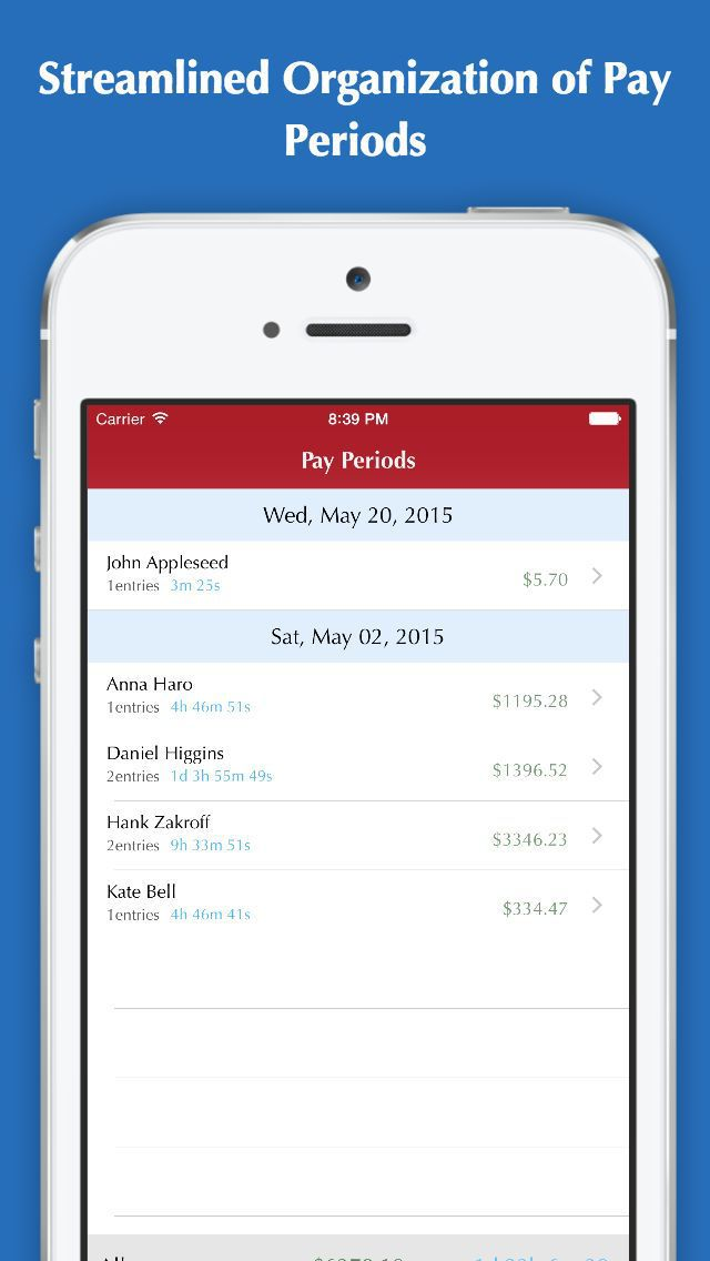 iphone app time tracker pro hours tracking clock in clock out