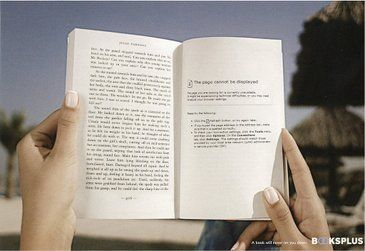 "Such a great concept!  ""A book will never let you down."""