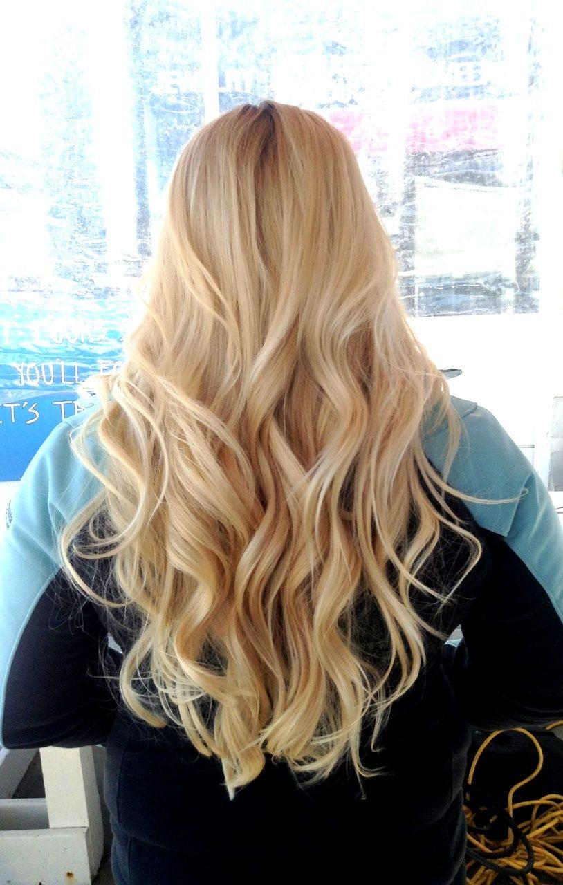 wavy hair view. curl