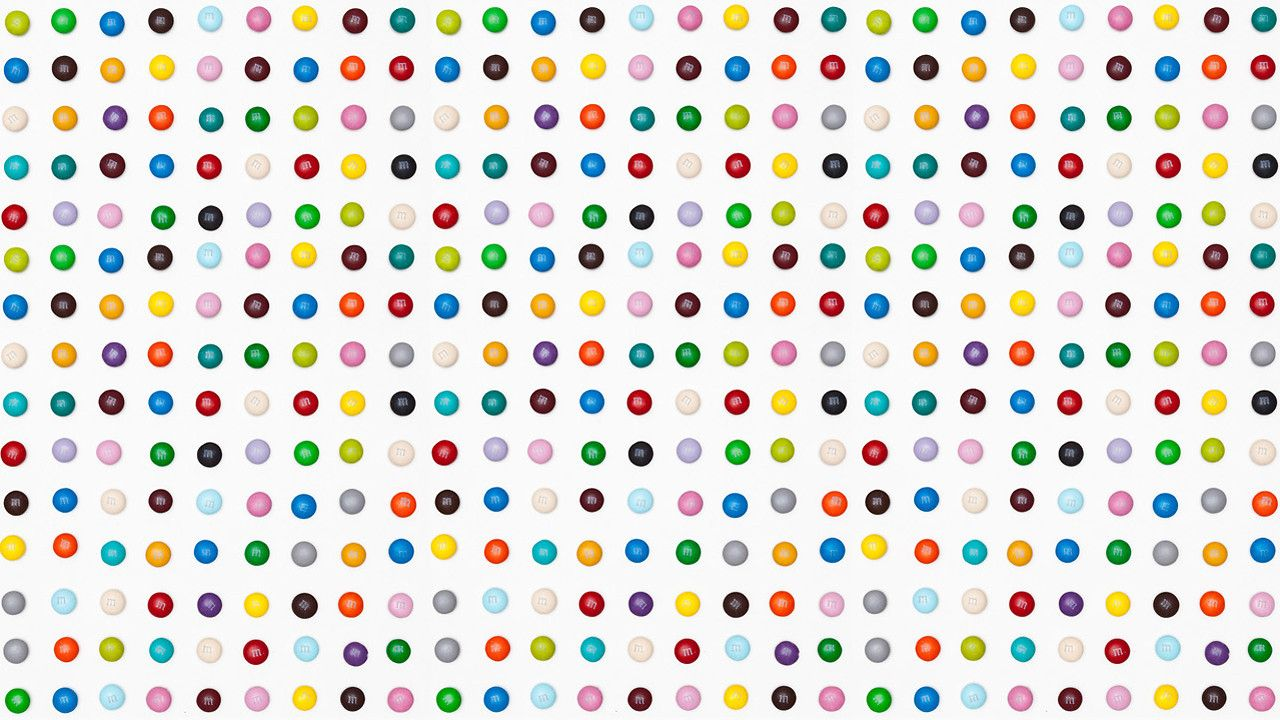 Spoofing Damien Hirst With Dot Paintings Made Of M M S Damien Hirst Art Damien Hirst Hirst