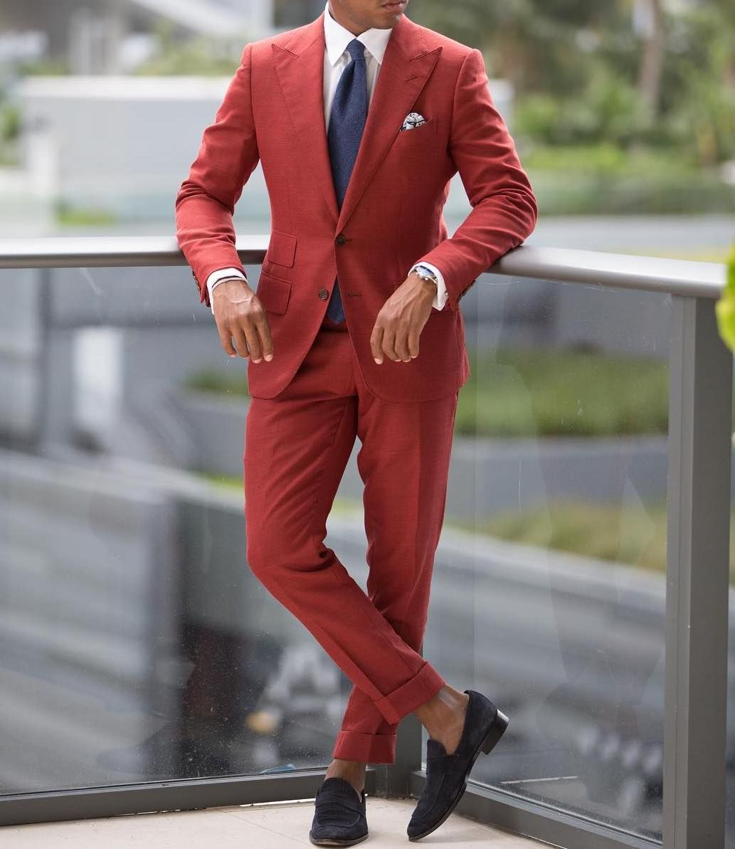 Daring Burgundy Red Two Pieces Suits Dressing Like A True Gentleman Is Not Only About Fashion But About Self Discipline Ootd Suit Fashion Suits Custom Suit