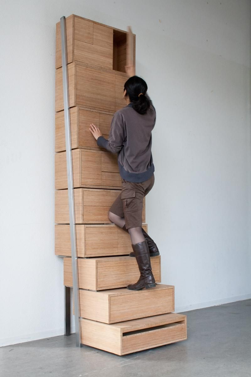 Stair Case Danny Kuo 2008 An Hybrid Furniture That Combines The - Staircase-storage-by-danny-kuo
