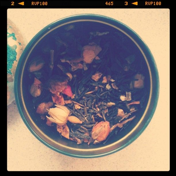 green tea with rose petals & more