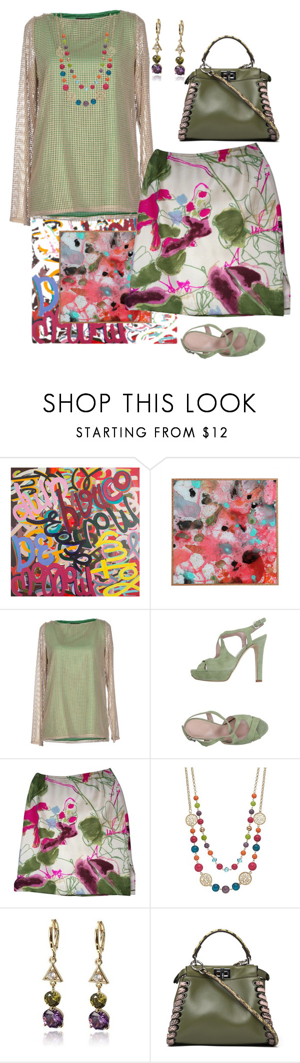 """""""Color Splash"""" by easy-dressing ❤ liked on Polyvore featuring Jo No Fui, Altiebassi, Christian Lacroix and Fendi"""
